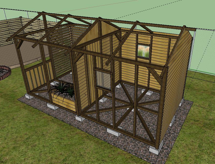 Najnowsze Onix arts :: Drewniany domek ogrodowy HL98
