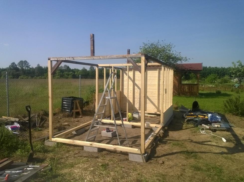 Modernistyczne Onix arts :: Drewniany domek ogrodowy YL71